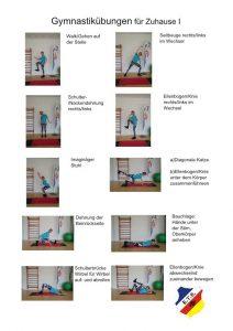 Gymnastikübungen für Zuhause Teil I